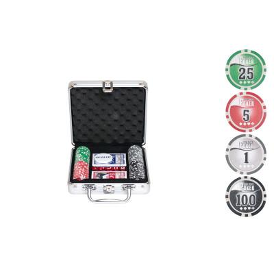 Набор для покера NUTS на 100 фишек с пластиковыми картами