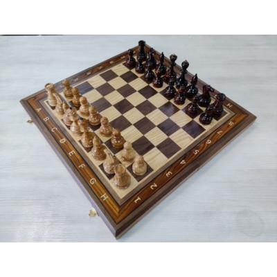 Шахматы эксклюзивные Карельская береза/орех