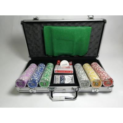 Набор для покера NUTS на 300 фишек с пластиковыми картами