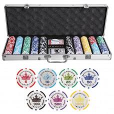 Набор для покера Empire на 500 фишек с пластиковыми картами