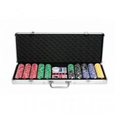 Набор для покера NUTS на 500 фишек с пластиковыми картами