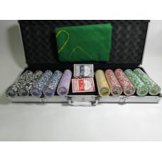 Набор для покера Royal Flush на 500 фишек с пластиковыми картами