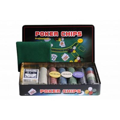 Набор для покера Holdem Light на 300 фишек с пластиковыми картами