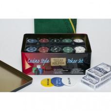 Набор для покера Holdem Light на 200 фишек с пластиковыми картами