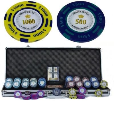 Набор для покера Monte Carlo на 500 фишек